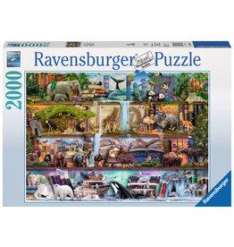 RAVENSBURGER USA WILD KINGDOM SHELVES 2000 PC PUZZLE