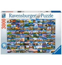 RAVENSBURGER USA 99 BEAUTIFUL PLACES IN EUROPE 3000 PC PUZZLE
