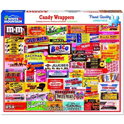 WHITE MOUNTAIN PUZZLE CANDY WRAPPERS 1000 PC PUZZLE