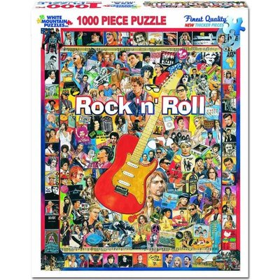 WHITE MOUNTAIN PUZZLE ROCK N ROLL 1000 PC PUZZLE
