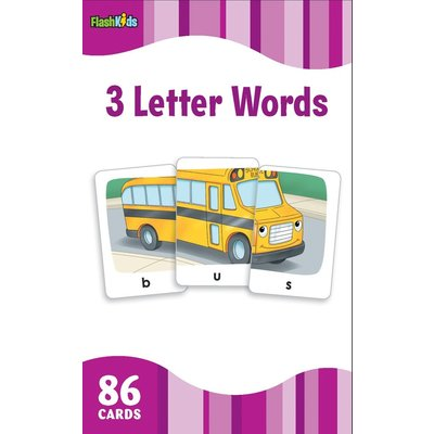 STERLING PUBLISHING THREE LETTER WORDS FLASHCARDS*
