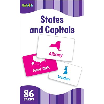 STERLING PUBLISHING STATES & CAPITALS FLASHCARDS FLASH KIDS*