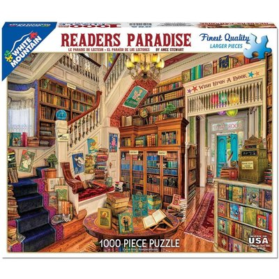WHITE MOUNTAIN PUZZLE READERS PARADISE 1000 PC PUZZLE
