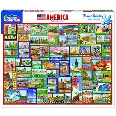 WHITE MOUNTAIN PUZZLE AMERICA 1000 PIECE