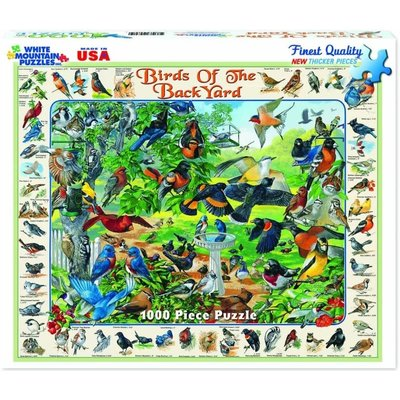 WHITE MOUNTAIN PUZZLE BIRDS OF THE BACK YARD 1000 PC PUZZLE