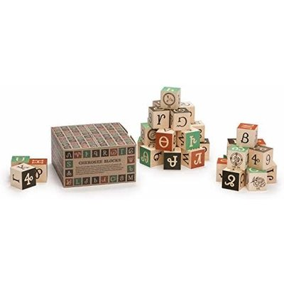 UNCLE GOOSE LINDENWOOD FOREIGN ALPHABET BLOCKS (NORTH AM.)
