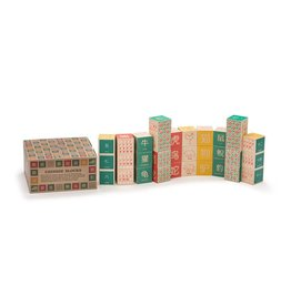 UNCLE GOOSE LINDENWOOD FOREIGN ALPHABET BLOCKS (ASIA)