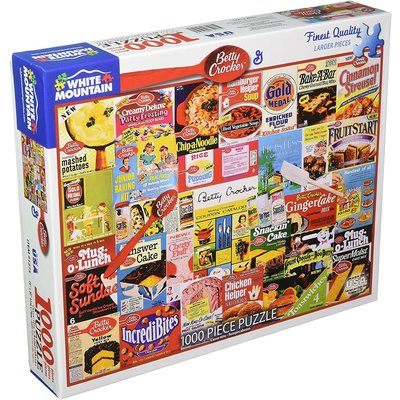 WHITE MOUNTAIN PUZZLE BETTY CROCKER 1000 PC PUZZLE