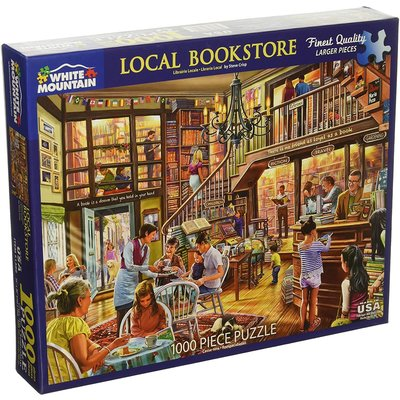 WHITE MOUNTAIN PUZZLE LOCAL BOOK STORE 1000 PC PUZZLE