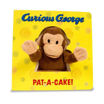 HOUGHTON MIFFLIN CURIOUS GEORGE PAT-A-CAKE! W/ PUPPET