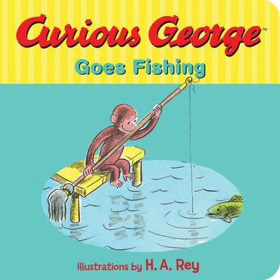 HOUGHTON MIFFLIN CURIOUS GEORGE GOES FISHING BB REY