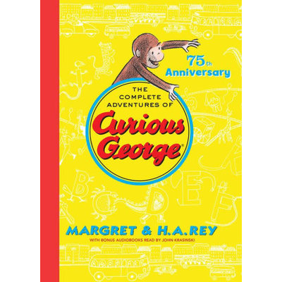 HOUGHTON MIFFLIN CURIOUS GEORGE COMPLETE ADVENTURES OF 75TH ANNIVERSARY HB REY