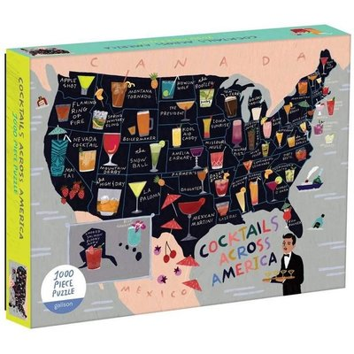 GALISON COCKTAIL MAP OF THE USA PUZZLE 1000 PIECE