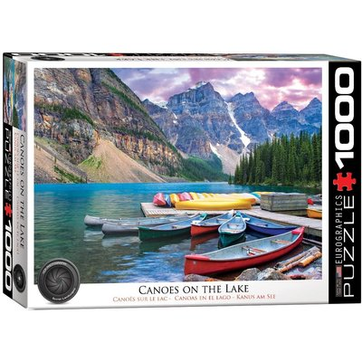 EUROGRAPHICS CANOES ON THE LAKE 1000 PC PUZZLE