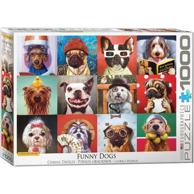 EUROGRAPHICS FUNNY DOGS 1000 PC PUZZLE