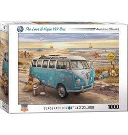 EUROGRAPHICS LOVE & HOPE VW BUS 1000 PC PUZZLE