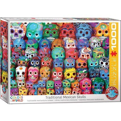 EUROGRAPHICS TRADITIONAL MEXICAN SKULLS 1000 PC PUZZLE
