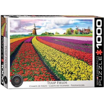 EUROGRAPHICS TULIP FIELDS NETHERLANDS 1000 PC PUZZLE