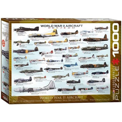 EUROGRAPHICS WWII AIRCRAFT 1000 PC PUZZLE