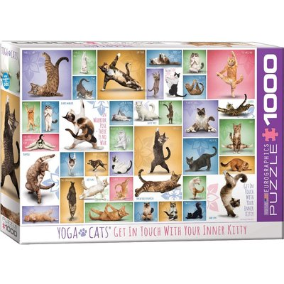 EUROGRAPHICS YOGA CATS 1000 PC PUZZLE