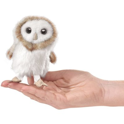 FOLKMANIS INC MINI BARN OWL FINGER PUPPET FOLKMANIS