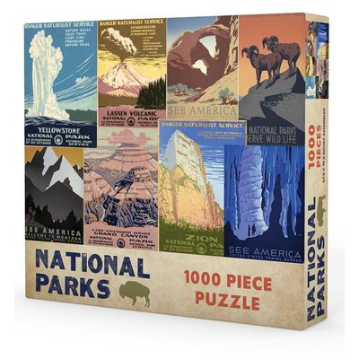 GIBBS SMITH NATIONAL PARKS PUZZLE 1000 PC