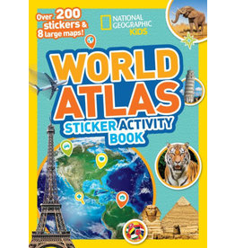 STICKER ATLAS OF THE WORLD ACTIVITY BOOK PB NAT GEO