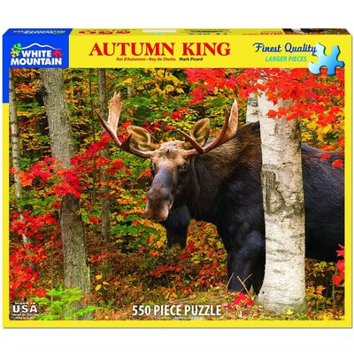 WHITE MOUNTAIN PUZZLE AUTUMN KING 550 PC PUZZLE