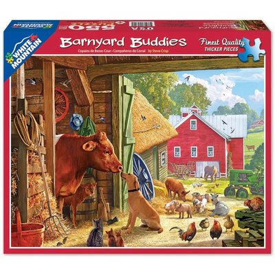 WHITE MOUNTAIN PUZZLE BARNYARD BUDDIES 550 PC PUZZLE