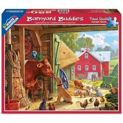 WHITE MOUNTAIN PUZZLE BARNYARD BUDDIES 550 PIECE