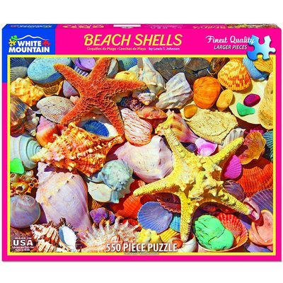 WHITE MOUNTAIN PUZZLE BEACH SHELLS 550 PC PUZZLE