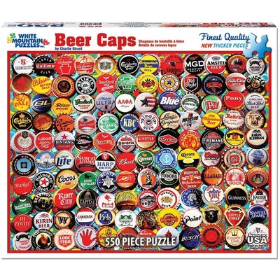 WHITE MOUNTAIN PUZZLE BEER BOTTLE CAPS 550 PC PUZZLE