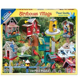 WHITE MOUNTAIN PUZZLE BIRDHOUSE VILLAGE 550 PC PUZZLE