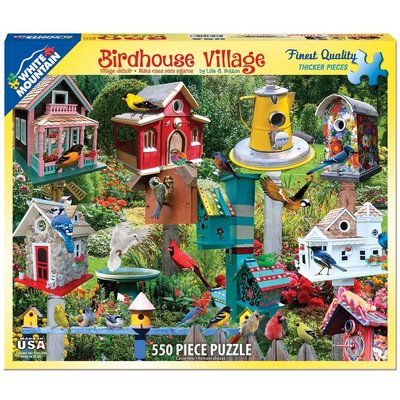 WHITE MOUNTAIN PUZZLE BIRDHOUSE VILLAGE 550 PC PUZZLE