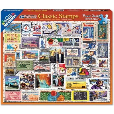 WHITE MOUNTAIN PUZZLE CLASSIC STAMPS 550 PC PUZZLE