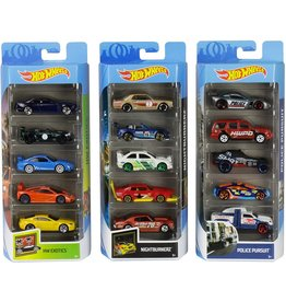 MATTEL HOT WHEELS 5 PC ASST.