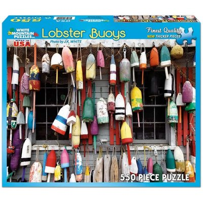 WHITE MOUNTAIN PUZZLE LOBSTER BUOYS 550 PC PUZZLE