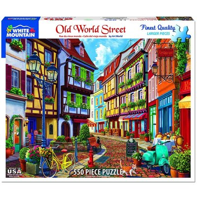 WHITE MOUNTAIN PUZZLE OLD WORLD STREET 550 PC PUZZLE
