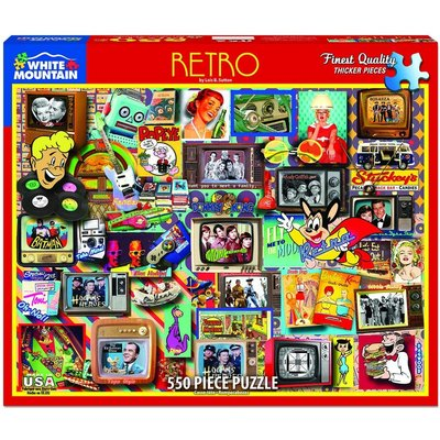 WHITE MOUNTAIN PUZZLE RETRO 550 PC PUZZLE