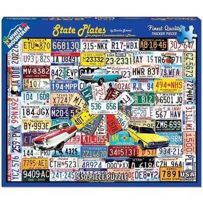 WHITE MOUNTAIN PUZZLE STATE PLATES 550 PC PUZZLE