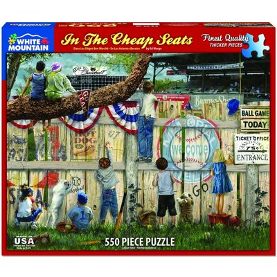 WHITE MOUNTAIN PUZZLE THE CHEAP SEATS 550 PC PUZZLE