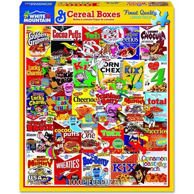 WHITE MOUNTAIN PUZZLE CEREAL BOXES 1000 PIECE