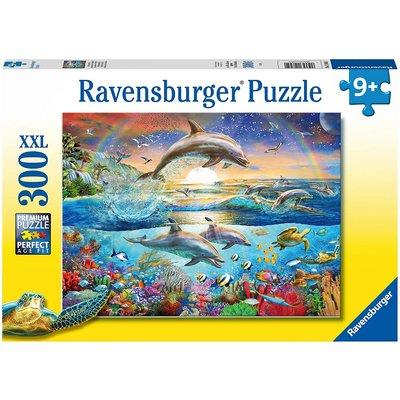 RAVENSBURGER USA DOLPHIN PARADISE 300 PC PUZZLE*