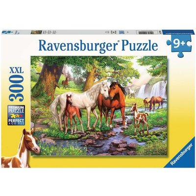 RAVENSBURGER USA HORSES BY THE STREAM 300 PC PUZZLE