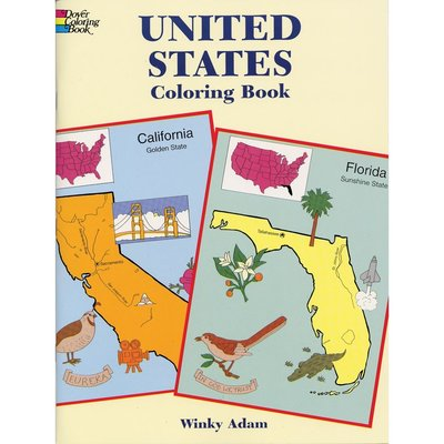 DOVER PUBLICATIONS UNITED STATES COLORING