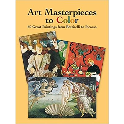 DOVER PUBLICATIONS ART MASTERPIECES TO COLOR