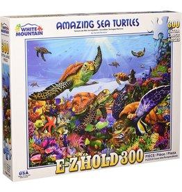 WHITE MOUNTAIN PUZZLE AMAZING SEA TURTLES 300 PC PUZZLE
