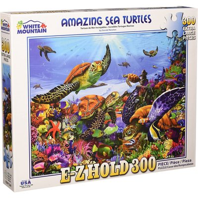 WHITE MOUNTAIN PUZZLE AMAZING SEA TURTLES 300 PC PUZZLE