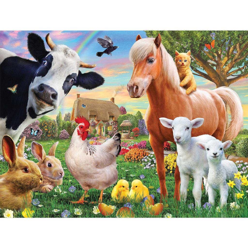 WHITE MOUNTAIN PUZZLE FARM ANIMALS 300 PIECE