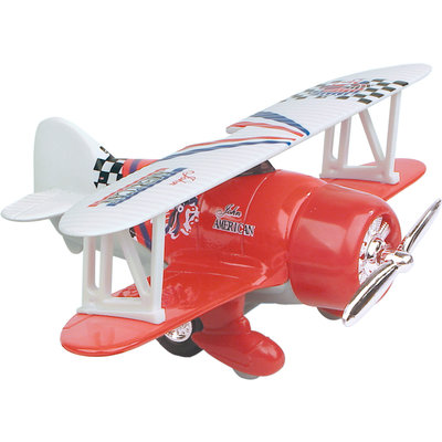 TOYSMITH PULL BACK CLASSIC FLYER PLANE